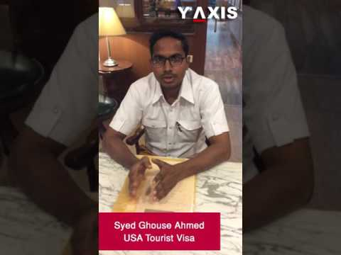 Syed Ghouse Ahmed US Tourist Visa PC Haritha Asha