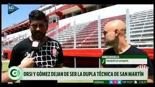 San Martín de Tucumán despidió a la dupla Orsi-Gómez y busca un nuevo DT