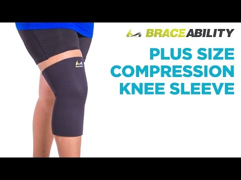 BraceAbility Plus Size Compression Knee Sleeve | Large Sizes up to 6XL