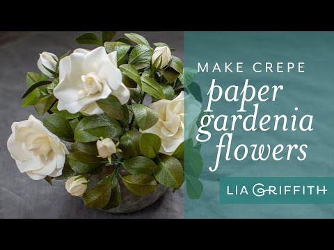 How To Make A Crepe Paper Gardenia with Double Sided Crepe