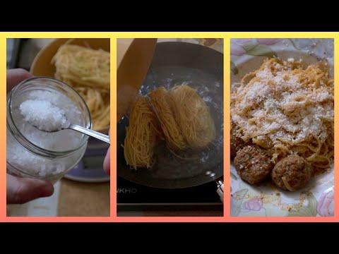 Pasta veloce: tagliolini al ragù alla bolognese e polpette pronta in 15 minuti #shorts