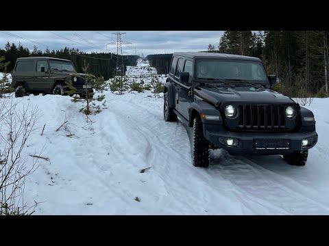 Rubicon, gelandewagen, trailhawk, Pajero и снег по которому ничего не едет)