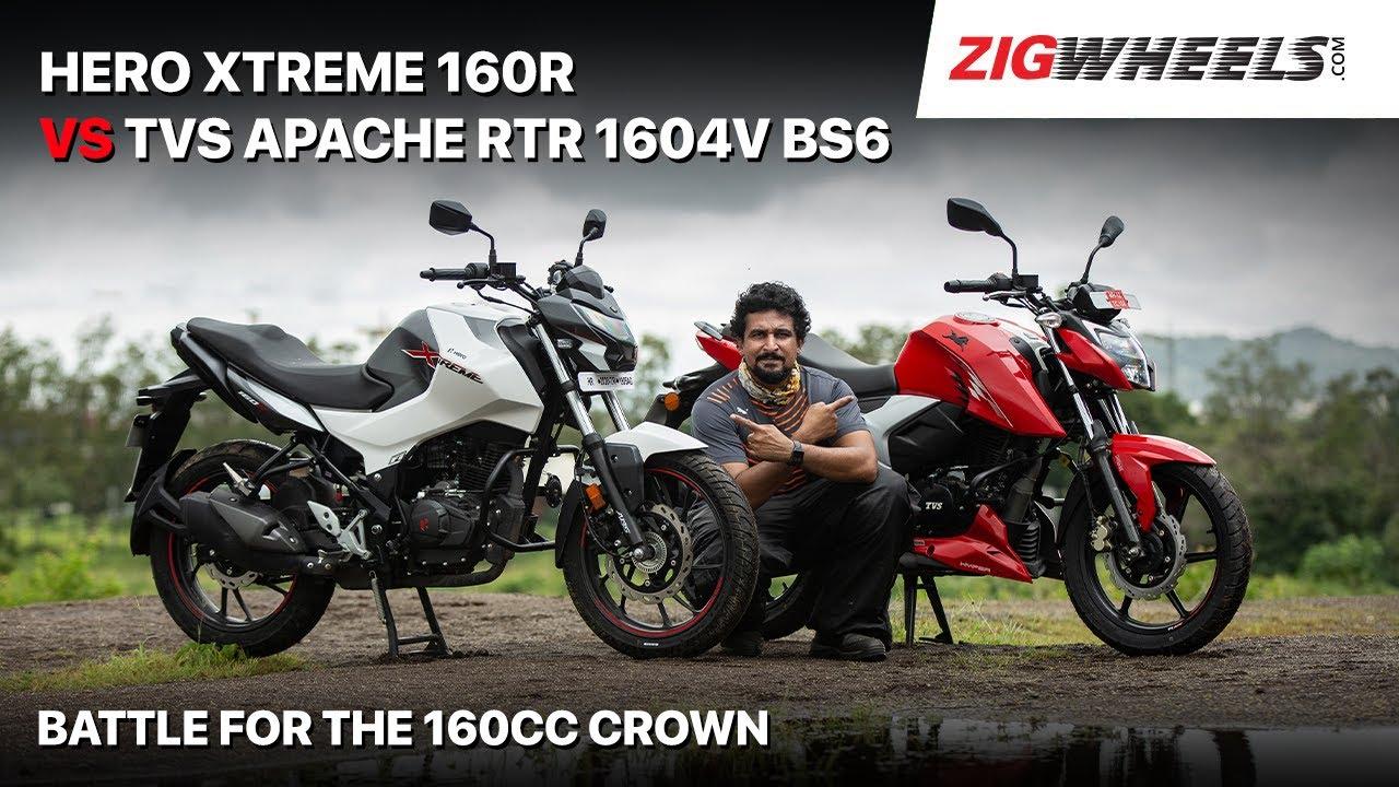 Hero Xtreme 160R vs TVS Apache RTR 1604V BS6   Real World Comparison Rest