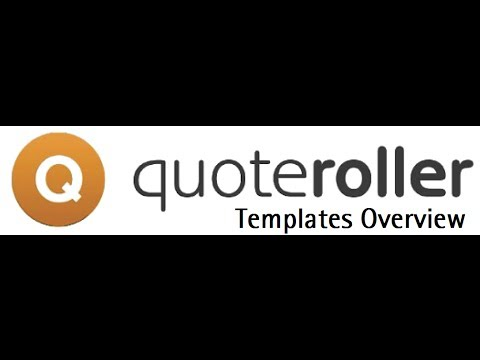 Quote Roller Templates Overview - Recorded 1/16/2014