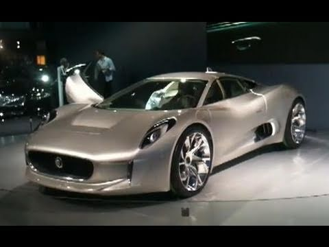 Jaguar C-X75 Concept at the 2010 Paris Motorshow