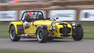 Supercharged Caterham Seven 620R Driven FLAT OUT  Sideways @ Goodwood!