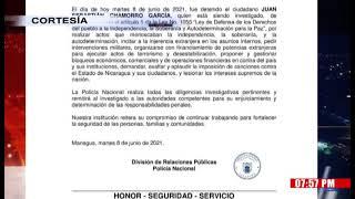 Capturan al cuarto candidato opositor a la presidencia en Nicaragua