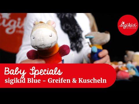 sigikid Blue: Babyspielzeug zum Greifen und Kuscheln