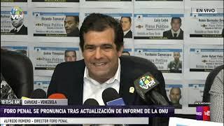 Caracas - Foro Penal pidió a la ONU más atención a los presos políticos en Venezuela - VPItv
