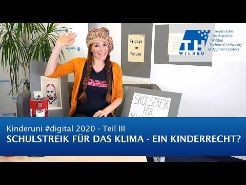 TH Wildau Kinderuni #digital 2020: Schulstreik für das Klima - ein Kinderrecht?