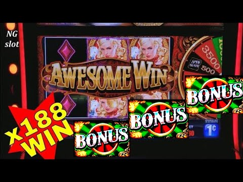 connectYoutube - Riverboat Queen Slot Machine ★BIG WIN★ Line Hit & BONUS WON  ! Max Bet Live Slot Play