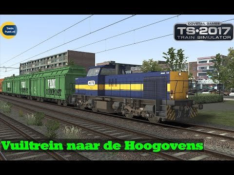 Vuiltrein naar de Hoogovens | NS 6400 HUSA G1206 | Train Simulator 2017