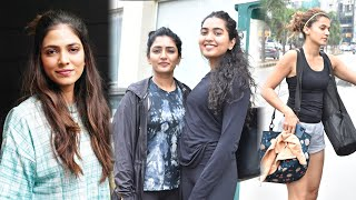 EXCLUSIVE VIDEO: Eesha Rebba and Malavika mohanan backslashu0026 Taapsee pannu Spotted At GYM Session In HYD - TFPC