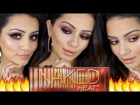 URBAN DECAY NAKED HEAT Palette Tutorial ? 3 Looks + GIVEAWAY!