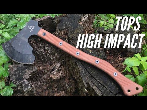 TOPS High Impact Axe: Chopping Power - 1075 Steel, HEFTY Cutting Tool
