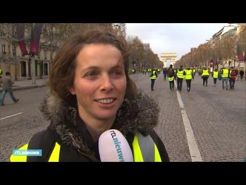 Élodie loopt mee met de gele hesjes in Parijs: 'Je vraagt je af hoe dit afloopt' - RTL NIEUWS