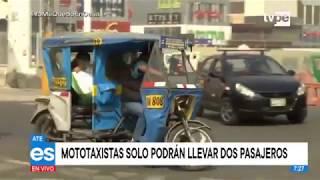 Ate Vitarte: Disponen que mototaxis solo podrán llevar dos pasajeros