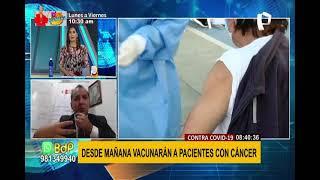 Este sábado 19 iniciará vacunación a pacientes oncológicos: conozca los protocolos a seguir