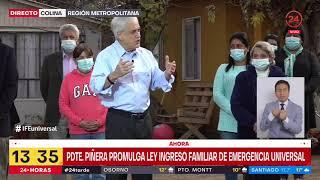 Presidente Sebastián Piñera promulga IFE Universal