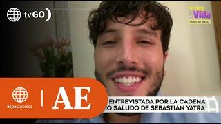 Luciana Fuster tuvo entrevista en Telemundo y Sebastián Yatra la saludó | América Espectáculos (HOY)