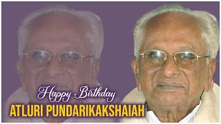 Actor, Producer, Writer Atluri Pundarikakshaiah Birthday Special   Producer Prasanna Kumar   TFPC - TFPC
