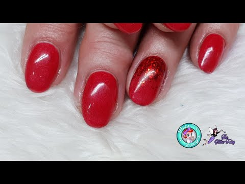 Classic Red Acrylic Overlays - Chrome Flakes
