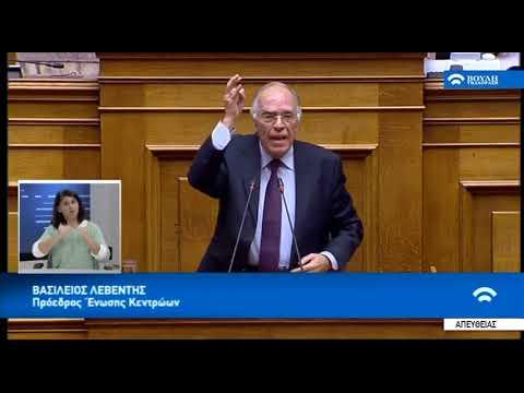 Βασίλης Λεβέντης για την ψήφο εμπιστοσύνης (Βουλή, 15-1-2019)
