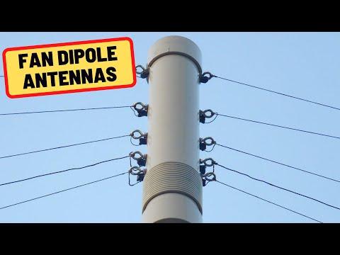 Fan Dipoles Explained in 2 minutes   Ham Radio Basics