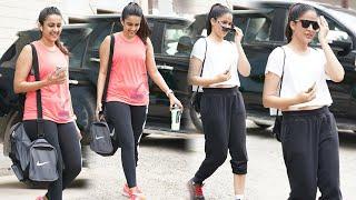 Lavanya Tripathi Niharika Konidela Spotted @ Gym Outside | Telugu Actress Gym Videos | TFPC - TFPC