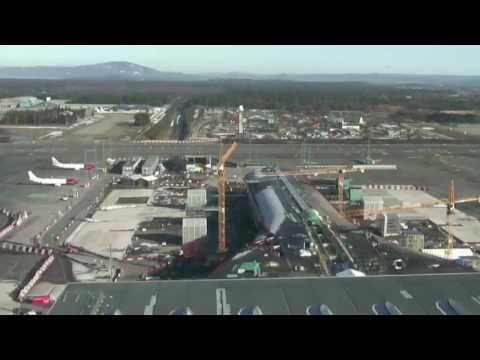 Nye Oslo lufthavn - byggingen av pir nord
