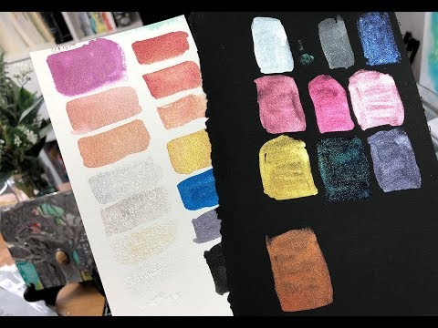 Maryland art retreat show&tell + swatching of new products