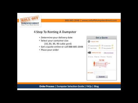 4 Step To Renting A Dumpster