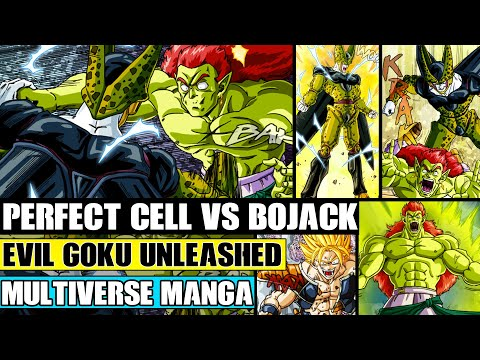 Dragon Ball Multiverse Chapters 27 And 28: Evil Goku Attacks! Perfect Cell Vs Bojack! Raditz Arrives
