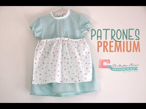 Vestido helados delantal para niñas (tallas 9 meses a 8 años)