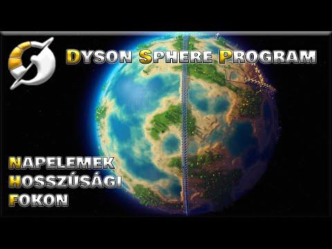 Napelemek a hosszúsági fokon, végtelen energia   Dyson Sphere Program