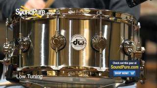 DW 6.5x14 Collectors Stainless Steel Metal Snare Drum - Quick n' Dirty