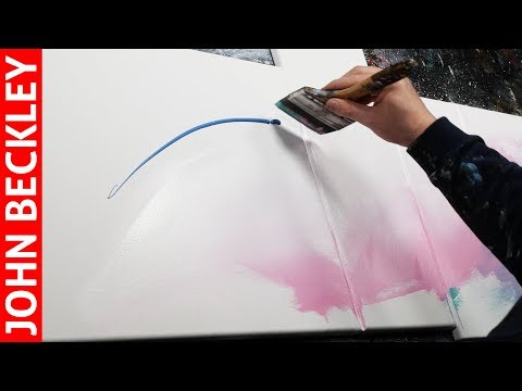Abstract Painting demonstration in Acrylics with masking tape | Abaris