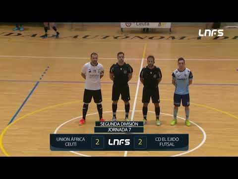 Unión África Ceutí 2-2 CD El Ejido Futsal Jornada 7 Segunda División Temp 21/22