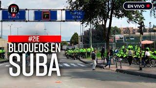Paro nacional: centenares de jóvenes bloquean la intersección de Av. Suba y la Av. Cali