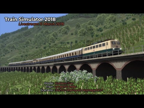 3DZUGRheingold Nostalgiefahrt Livestream 11032018