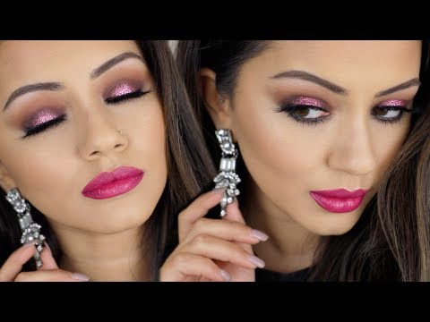 AFFORDABLE GLITTER CHRISTMAS PARTY MAKEUP LOOK ?AD