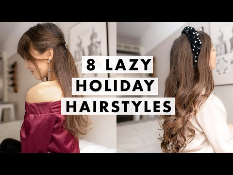 8 Lazy Last Minute Hairstyles for the Holidays