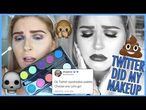 TWITTER DOES MY MAKEUP ??? NEW Makeup Challenge