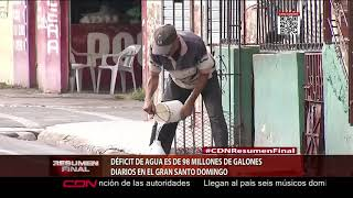 Déficit de agua es de 98 millones de galones diarios en el Gran Santo Domingo