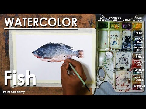 Watercolor Painting : Fish | How to Paint Scales