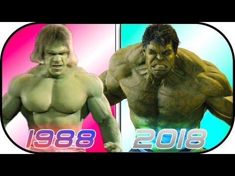 EVOLUTION of HULK in Movies (1988-2018) Bruce Banner History Hulk Avengers Infinity War