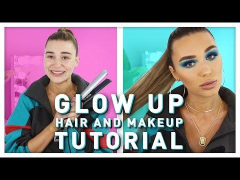 Glow Up Makeup + My GO TO Long Pony Tutorial