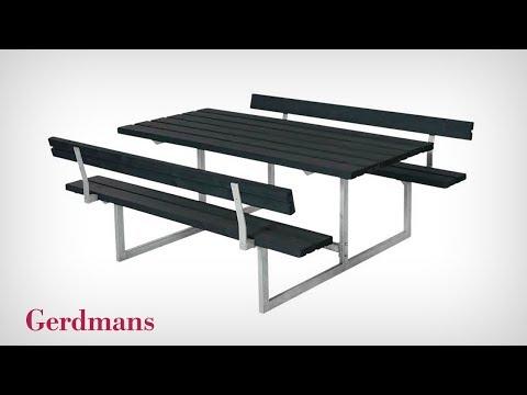 Ryggstöd Till Bänkbord Halde | Monteringsinstruktion | Gerdmans
