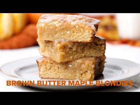Brown Butter Maple Blondies