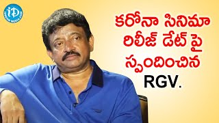 RGV Responds On Corona Movie Release Date | Dil Se with Anjali | iDream Telugu Movies - IDREAMMOVIES